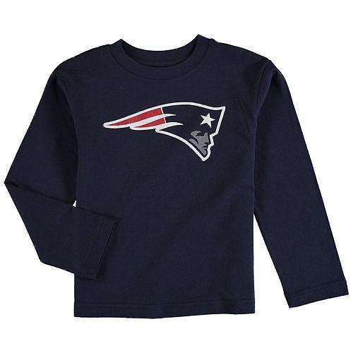 New England Patriots Preschool Team Logo Long Sleeve T-Shirt - Navy Blue