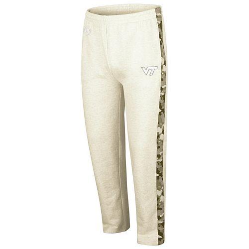 Men's Colosseum Heathered Oatmeal Virginia Tech Hokies OHT Military Appreciation Desert Camo Fleece Pants