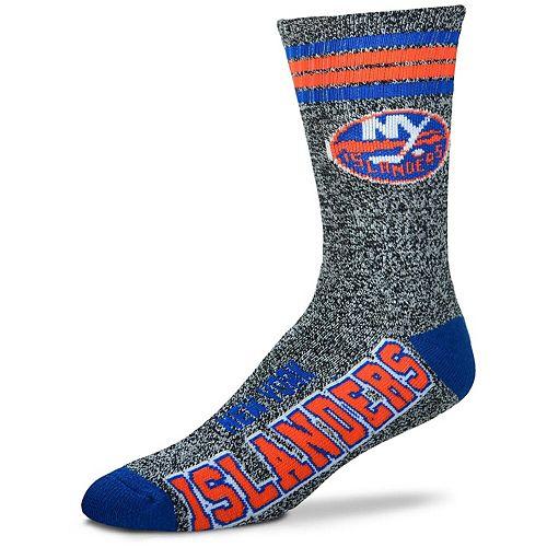 Men's For Bare Feet Gray New York Islanders Got Marble Crew Socks