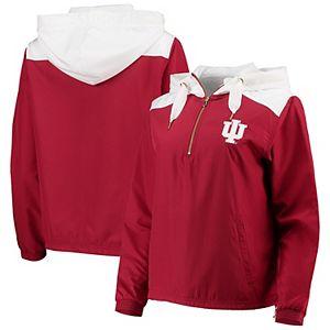 Champion NCAA Mens Half Zip Front Pocket Packable Jacket Indiana Hoosiers Large