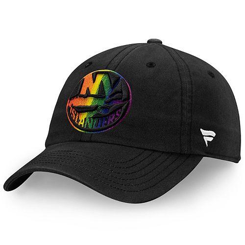 Men's Fanatics Branded Black New York Islanders Pride Fundamental Adjustable Hat