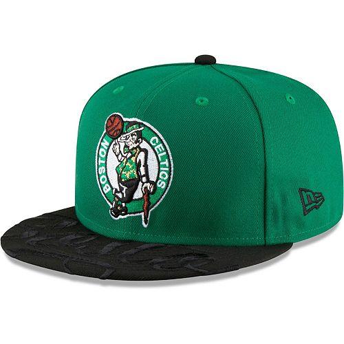 Men's New Era Kelly Green Boston Celtics Visor Script 59FIFTY Fitted Hat