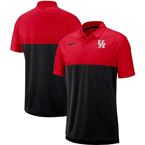 Men's Nike Black/Red Houston Cougars Sideline Early Season Performance Polo