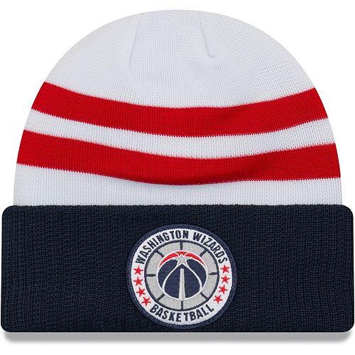 Men's New Era White Washington Wizards 2018 Tip Off Series Cuffed Knit Hat