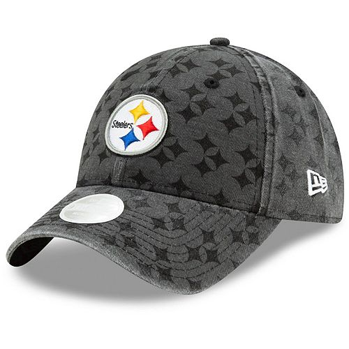 Women's New Era Black Pittsburgh Steelers Vintage Pretty 9TWENTY Adjustable Hat