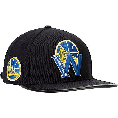 Men's Black Golden State Warriors Pro Standard Blended Logo Adjustable Hat
