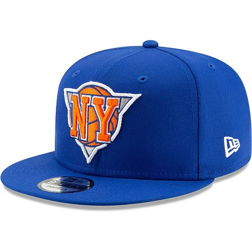 Men's New Era Blue New York Knicks Back Half 9FIFTY Adjustable Hat