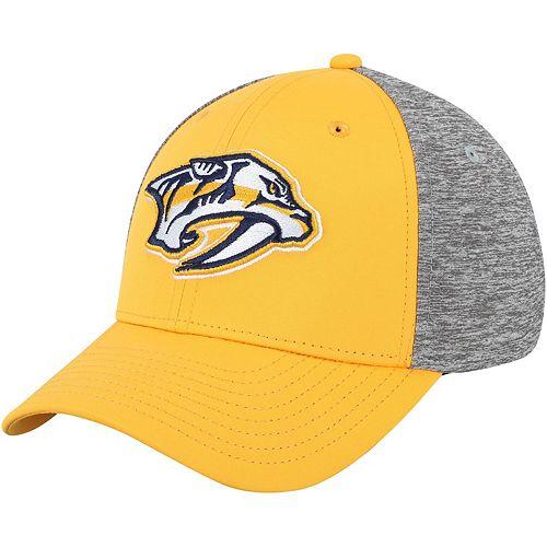 Youth Gold/Heathered Gray Nashville Predators Flex Hat