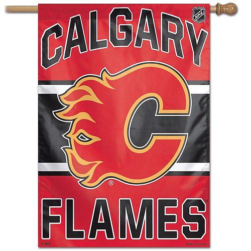 "WinCraft Calgary Flames 28"" x 40"" Wordmark Single-Sided Vertical Banner"