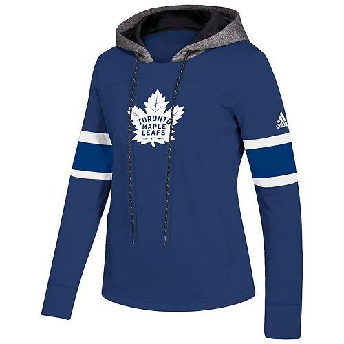 Women's adidas Blue Toronto Maple Leafs Crewdie Pullover Hoodie