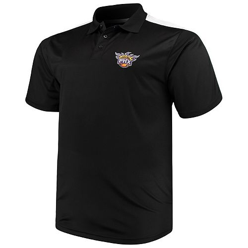 Men's Majestic Black/White Phoenix Suns Big & Tall Birdseye Polo