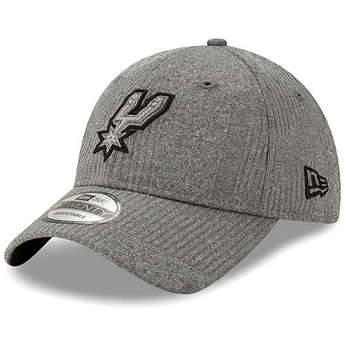 Men's New Era Gray San Antonio Spurs Authentics Training Series 9TWENTY Adjustable Hat