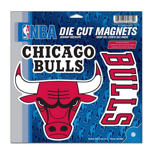"Chicago Bulls WinCraft 11"" x 11"" 3-Pack Vinyl Magnet Set"