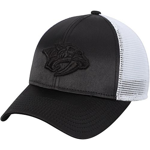 Women's adidas Black/White Nashville Predators Meshback Adjustable Snapback Hat