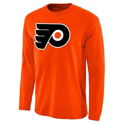 Men's Fanatics Branded Orange Philadelphia Flyers Primary Logo Long Sleeve T-Shirt