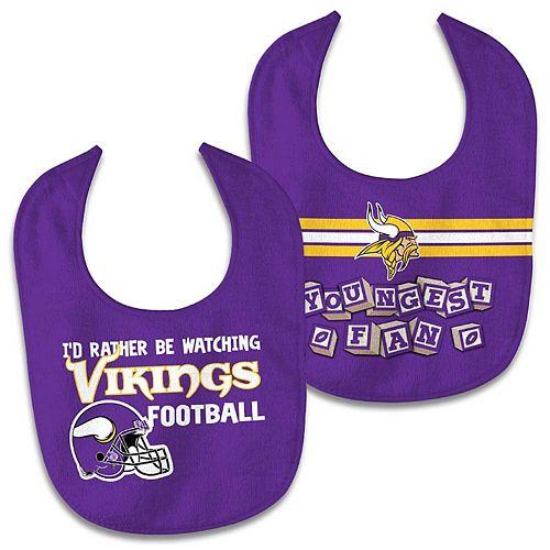 Newborn & Infant WinCraft Minnesota Vikings 2-Pack Bib Set