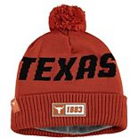 Men's New Era Orange Texas Longhorns On Field Sport Road Knit Hat