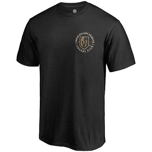 Men's Fanatics Branded Black Vegas Golden Knights Golden Circle T-Shirt