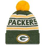 Youth New Era Green Green Bay Packers Toasty Cover Pom Cuffed Knit Hat