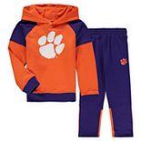 Preschool Orange/Purple Clemson Tigers Sideline Pullover Hoodie & Pants Set