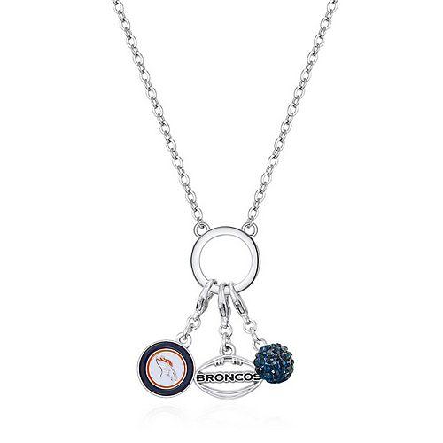 Women's Denver Broncos Three-Charm Necklace