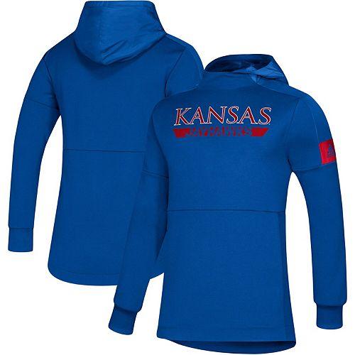 Men's adidas Royal Kansas Jayhawks Sideline Game Mode climalite Pullover Hoodie