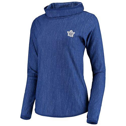 Women's Antigua Heathered Blue Toronto Maple Leafs Equalizer Pullover Sweatshirt