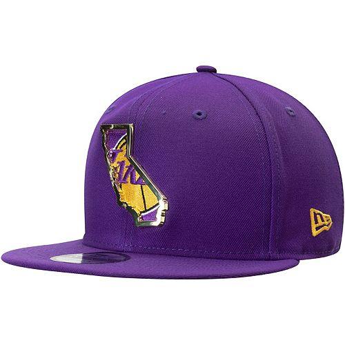 Men's New Era Purple Los Angeles Lakers Metal & Thread 9FIFTY Adjustable Hat