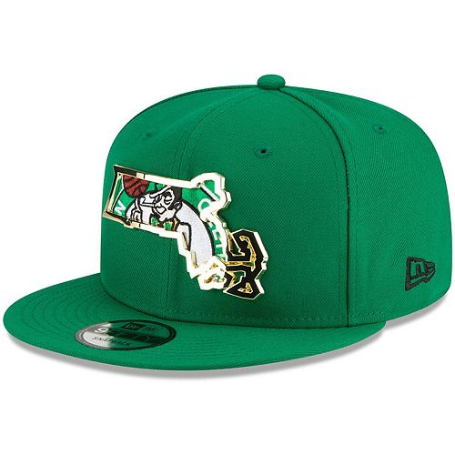 Men's New Era Kelly Green Boston Celtics Metal & Thread 9FIFTY Adjustable Hat