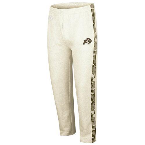 Men's Colosseum Heathered Oatmeal Colorado Buffaloes OHT Military Appreciation Desert Camo Fleece Pants