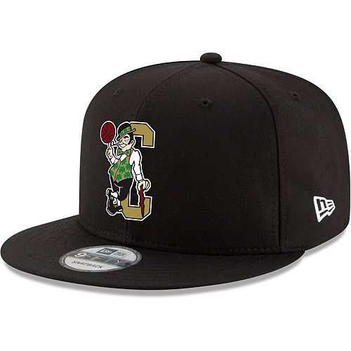 Men's New Era Black Boston Celtics Back Half 9FIFTY Adjustable Hat