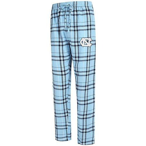 Men's Concepts Sport Carolina Blue North Carolina Tar Heels Big & Tall Hillstone Flannel Pants