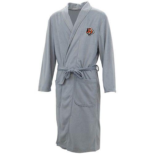 Men's Concepts Sport Charcoal Cincinnati Bengals Audible Microfleece Robe