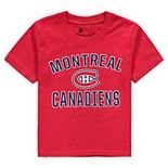 Toddler Fanatics Branded Red Montreal Canadiens Team Victory Arch T-Shirt