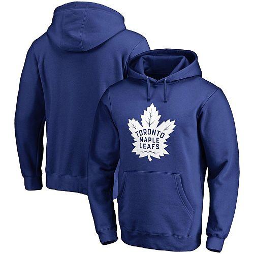 Men's Fanatics Branded Blue Toronto Maple Leafs Primary Logo Pullover Hoodie