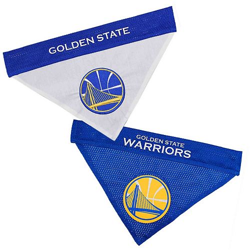 Golden State Warriors Reversible Bandana Pet Collar