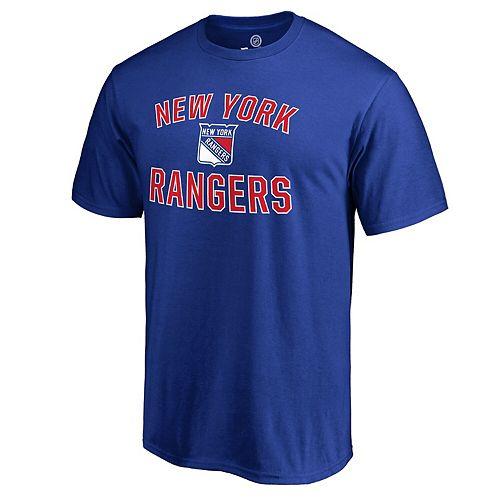 Men's Blue New York Rangers Victory Arch T-Shirt