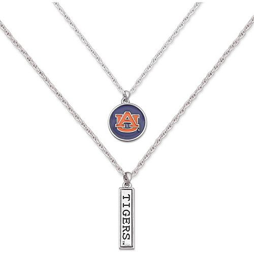 Auburn Tigers Women's Campus Chic Double Down Necklace