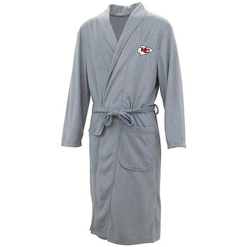 Men's Concepts Sport Charcoal Kansas City Chiefs Audible Microfleece Robe