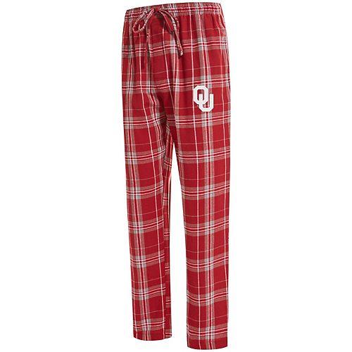 Men's Concepts Sport Crimson Oklahoma Sooners Big & Tall Hillstone Flannel Pants