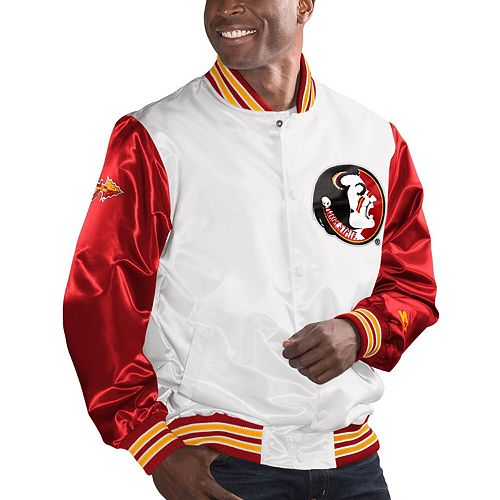 Men's Starter White/Garnet Florida State Seminoles The Legend Full-Snap Jacket