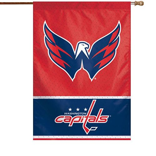 """Washington Capitals WinCraft 28"""" x 40"""" Two-Sided Vertical Flag"""