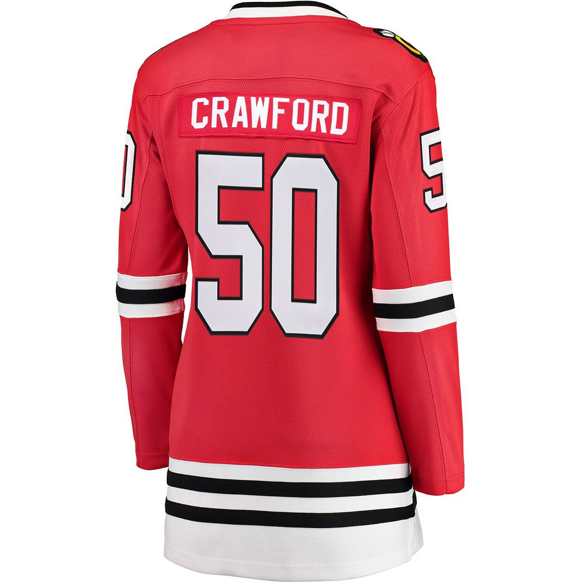 Women's Fanatics Branded Corey Crawford Red Chicago Blackhawks Breakaway Player Jersey lY68I