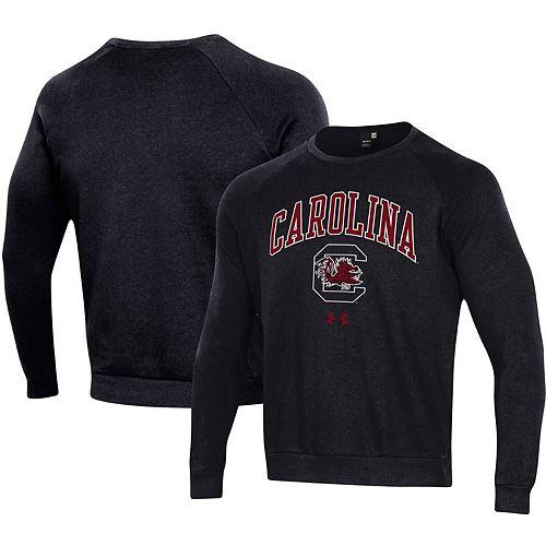 Men's Under Armour Black South Carolina Gamecocks Arched Fleece Raglan Sweatshirt