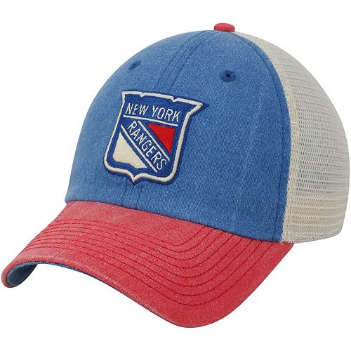 Men's American Needle Blue/Red New York Rangers Hanover Unstructured Adjustable Hat
