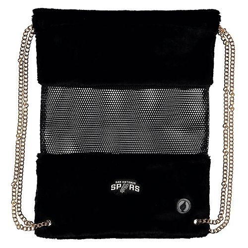 San Antonio Spurs Mesh Gold Chain Drawstring Bag