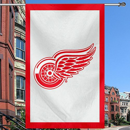"Detroit Red Wings 28"" x 44"" Double-Sided Applique Flag"