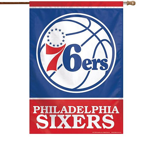 "WinCraft Philadelphia 76ers 28"" x 40"" Primary Logo Single-Sided Vertical Banner"