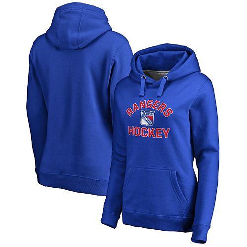 Women's Blue New York Rangers Overtime Pullover Hoodie