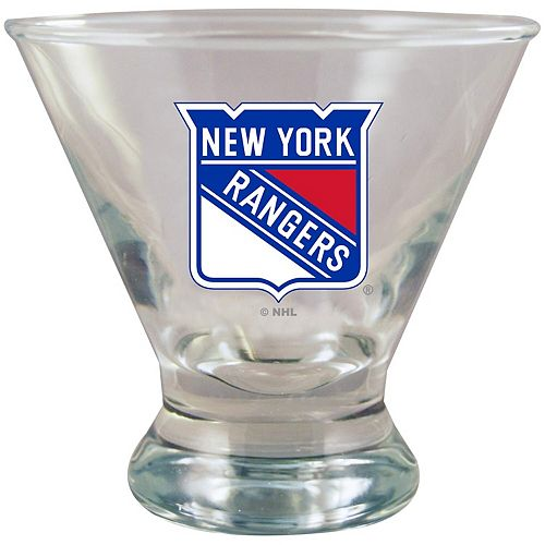 New York Rangers Martini Glass